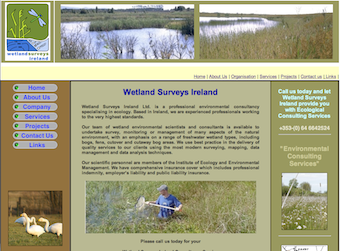 Wetland Surveys Ireland website